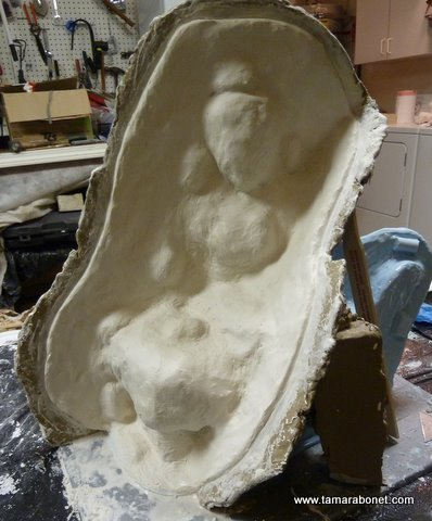 """Next time I will make my clay walls only about 3/8"""" bigger than where I want my plaster walls to extend."""
