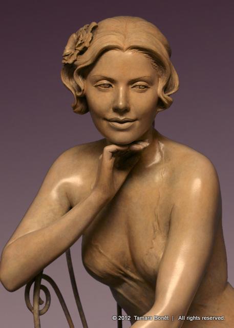 Closeup of Garden Reverie sculpture.