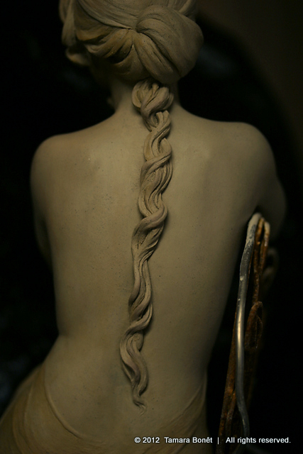 Hair braid is finished.